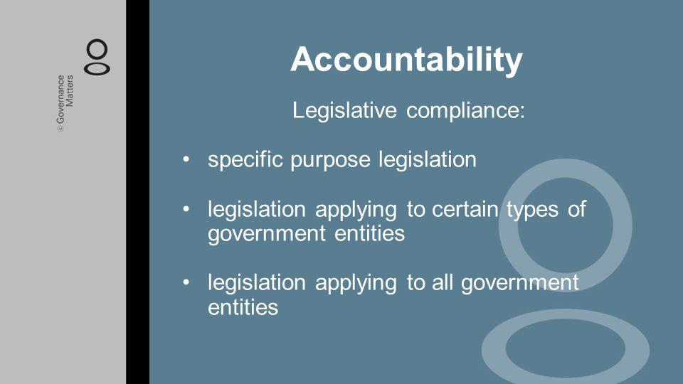 Legislative compliance: