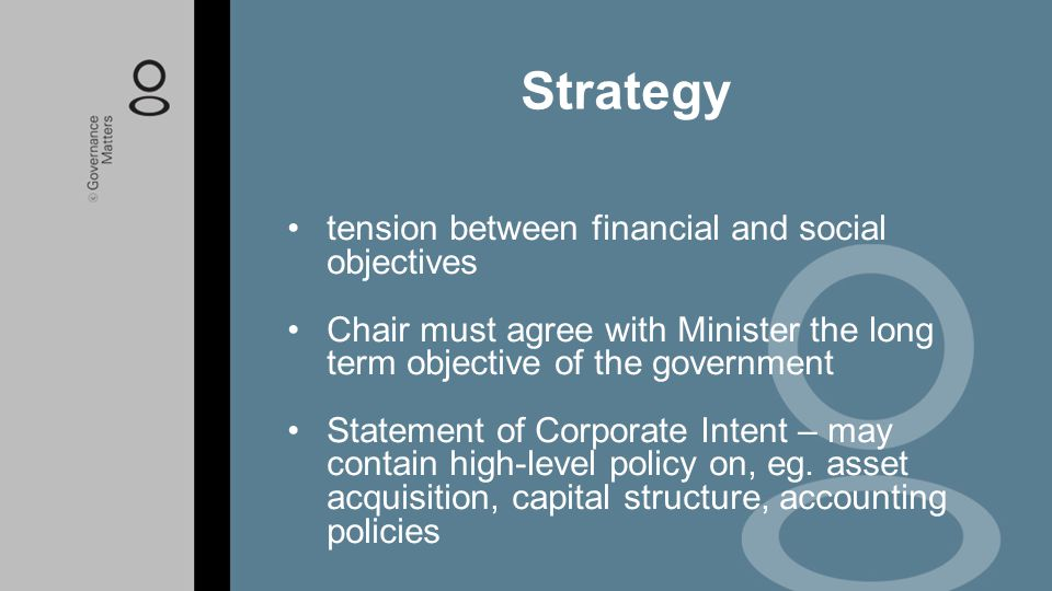 Strategy tension between financial and social objectives