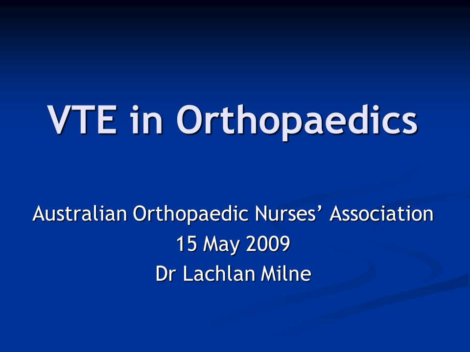 Australian Orthopaedic Nurses' Association