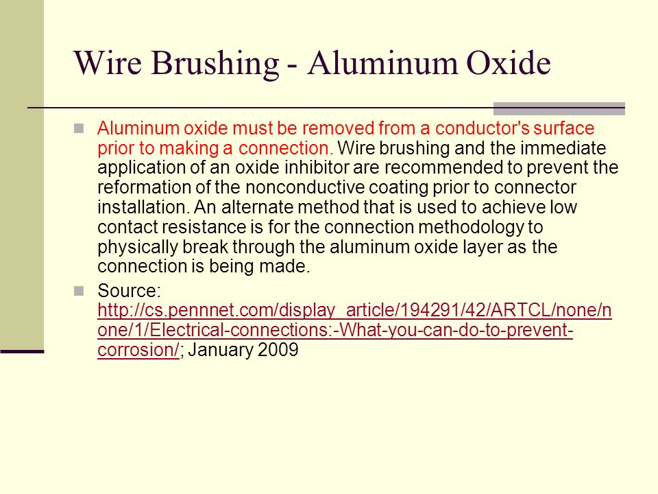 Wire Brushing - Aluminum Oxide