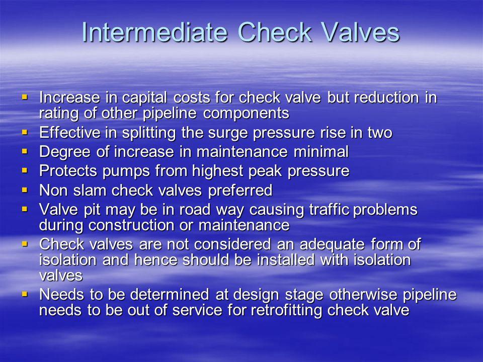 Intermediate Check Valves