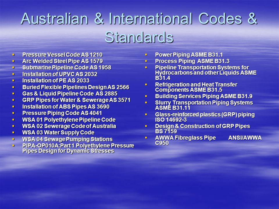 Australian & International Codes & Standards