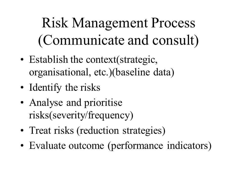 Risk Management Process (Communicate and consult)