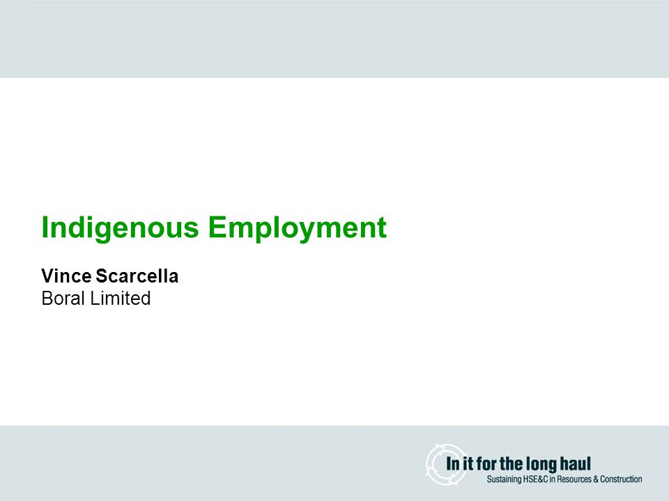 Indigenous Employment