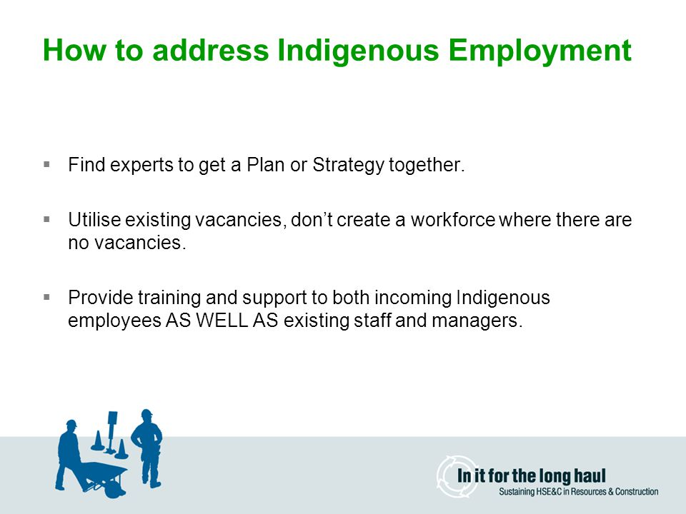 How to address Indigenous Employment