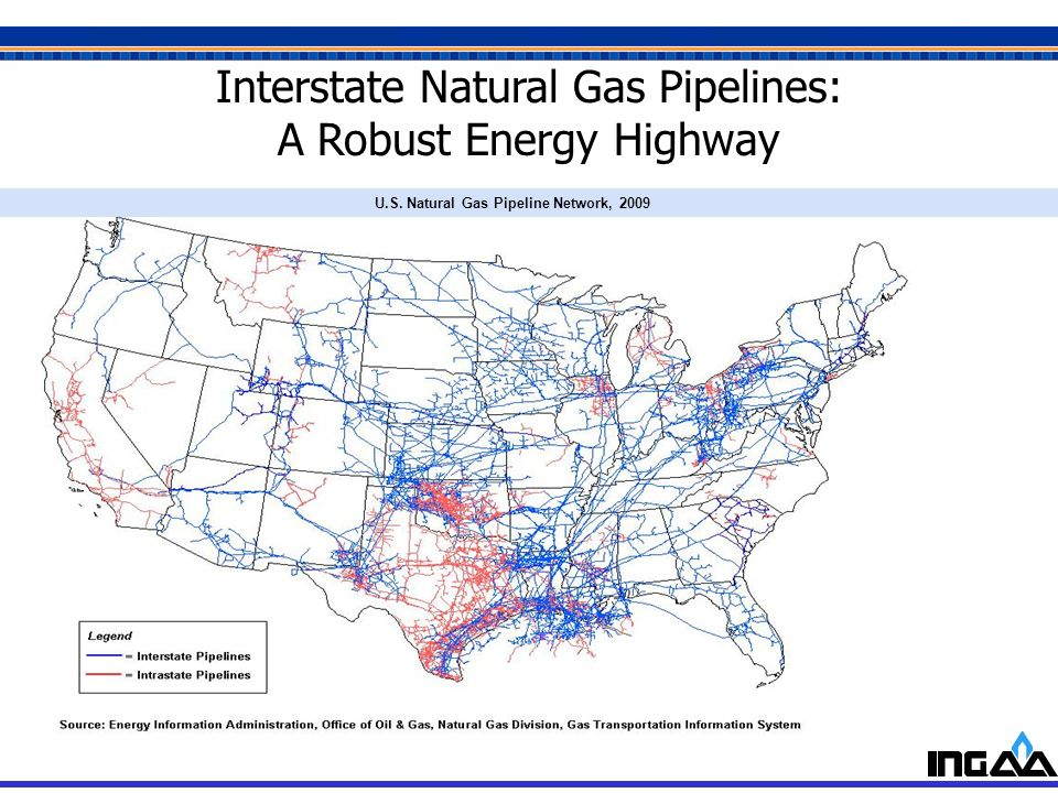 U.S. Natural Gas Pipeline Network, 2009