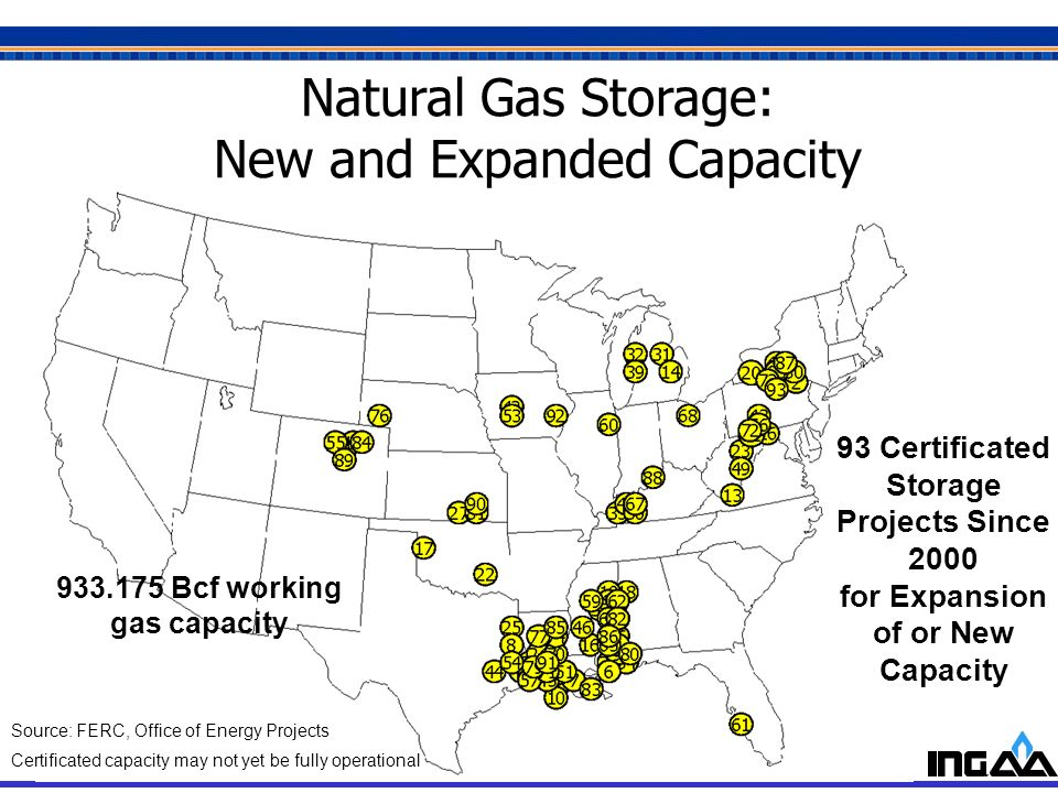 Natural Gas Storage: New and Expanded Capacity