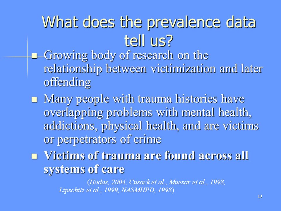 What does the prevalence data tell us