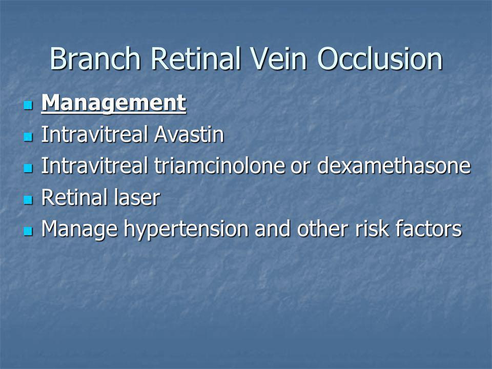 Branch Retinal Vein Occlusion