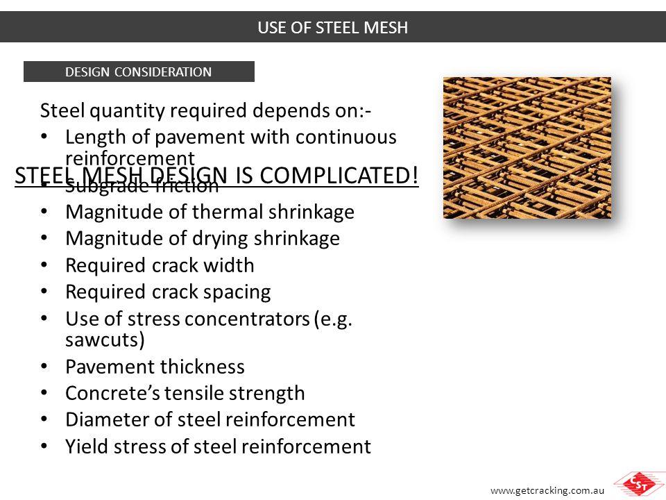STEEL MESH DESIGN IS COMPLICATED!
