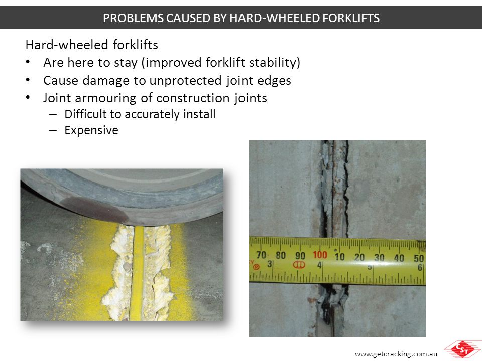 PROBLEMS CAUSED BY HARD-WHEELED FORKLIFTS