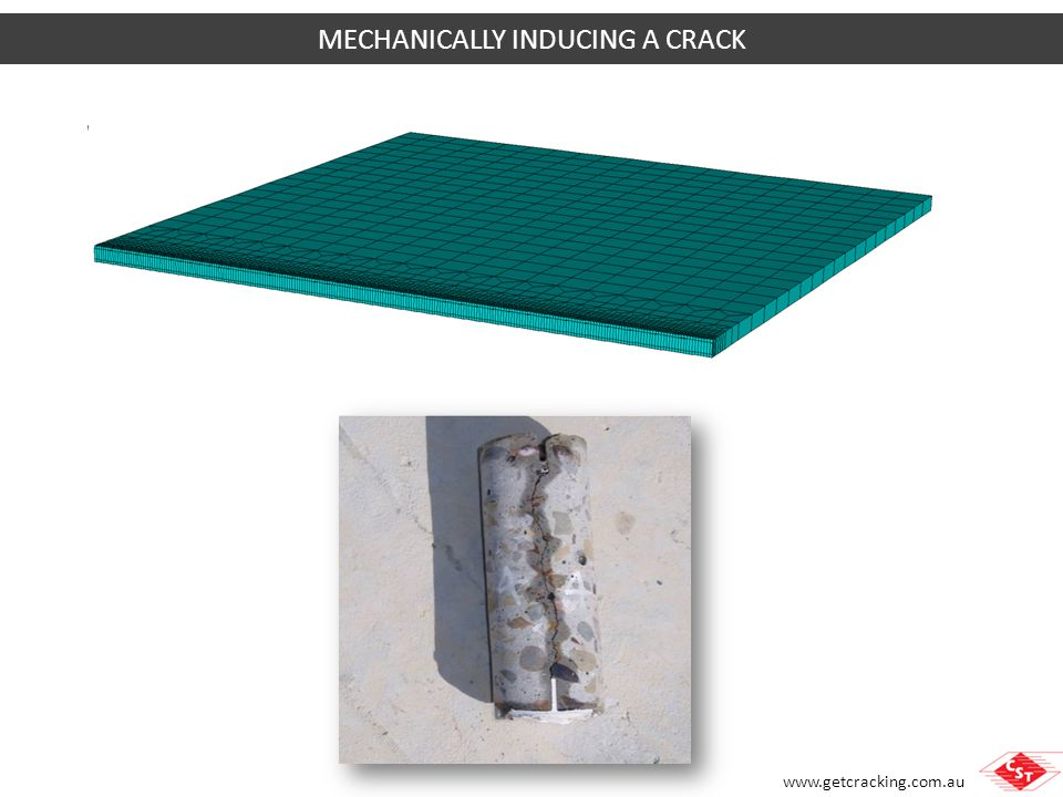 MECHANICALLY INDUCING A CRACK