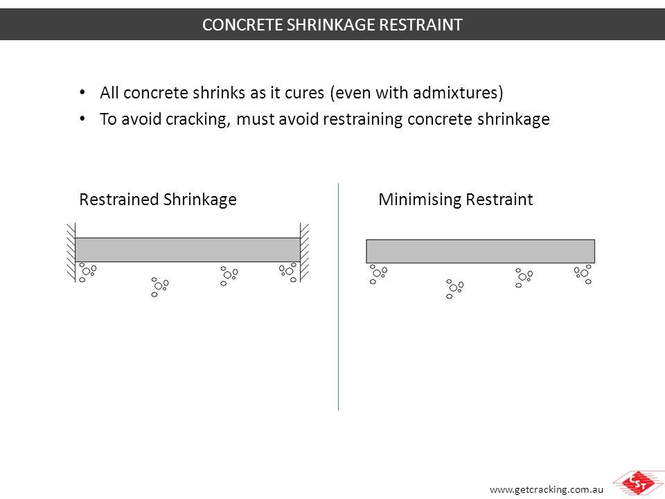 CONCRETE SHRINKAGE RESTRAINT