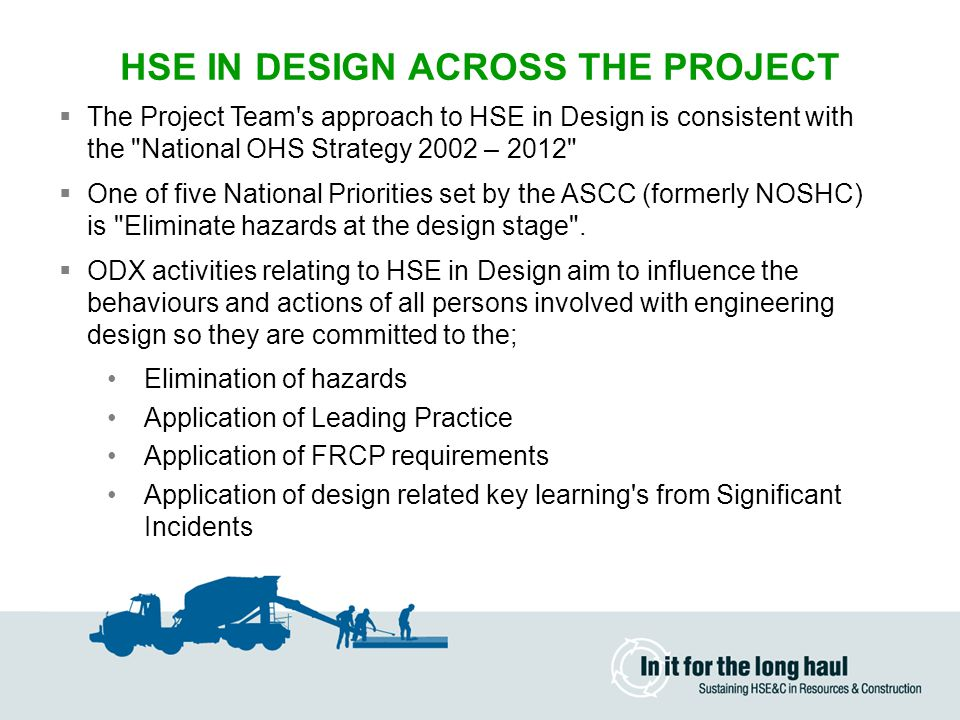 HSE IN DESIGN ACROSS THE PROJECT