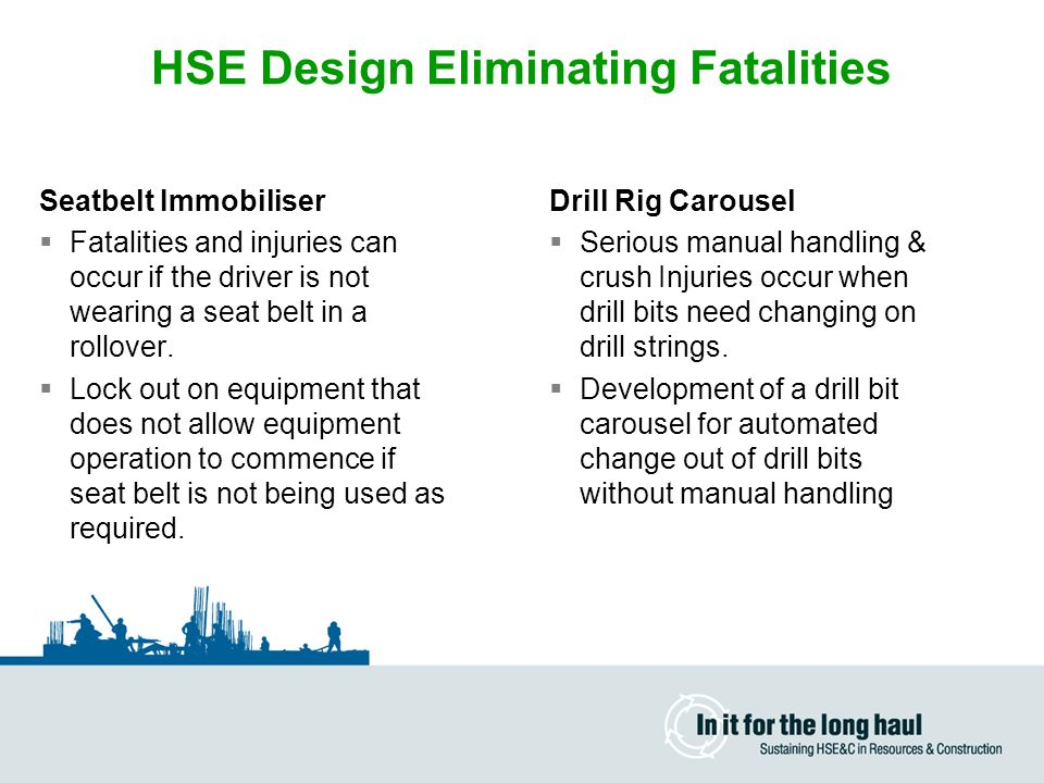 HSE Design Eliminating Fatalities
