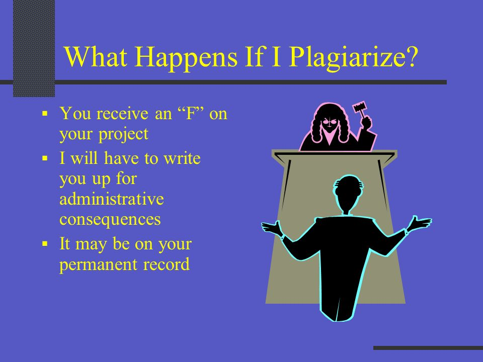 What Happens If I Plagiarize
