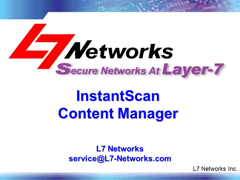 InstantScan Content Manager