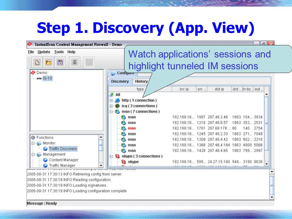 Step 1. Discovery (App. View)