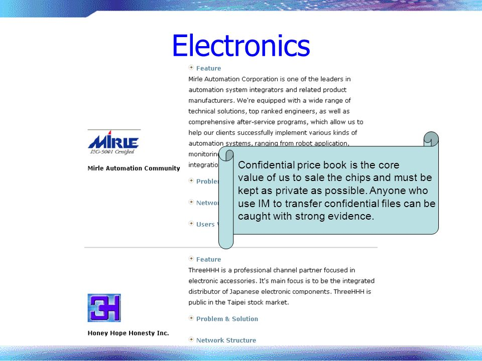 Electronics Confidential price book is the core