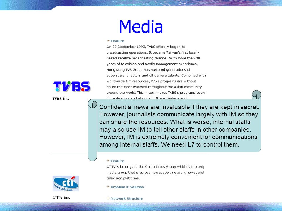 Media Confidential news are invaluable if they are kept in secret.