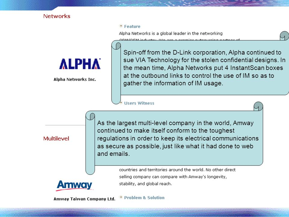 Spin-off from the D-Link corporation, Alpha continued to