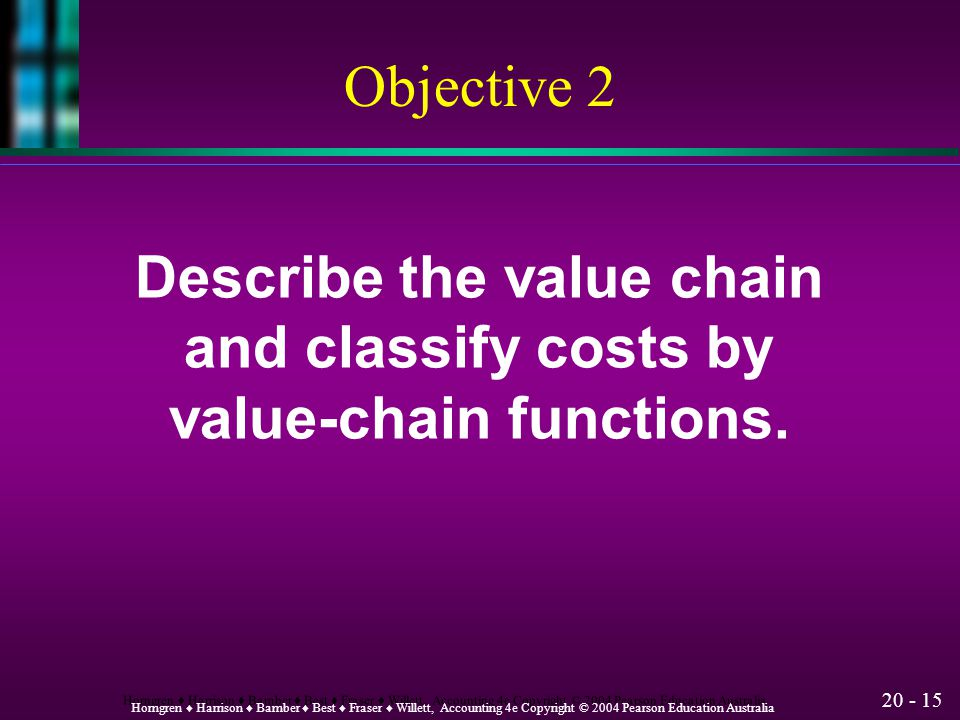 Describe the value chain value-chain functions.