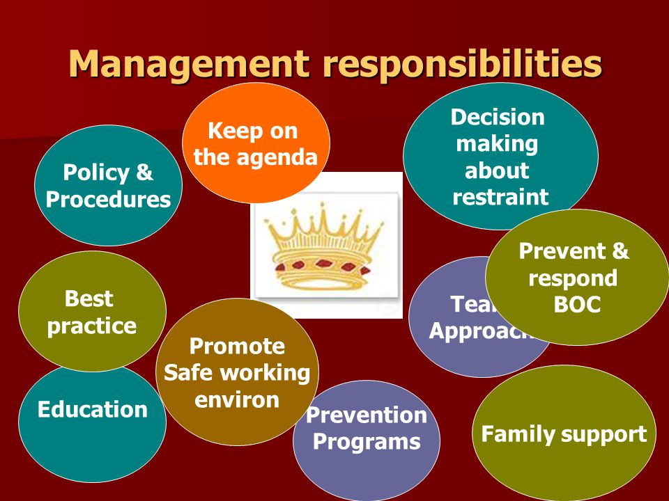 Management responsibilities