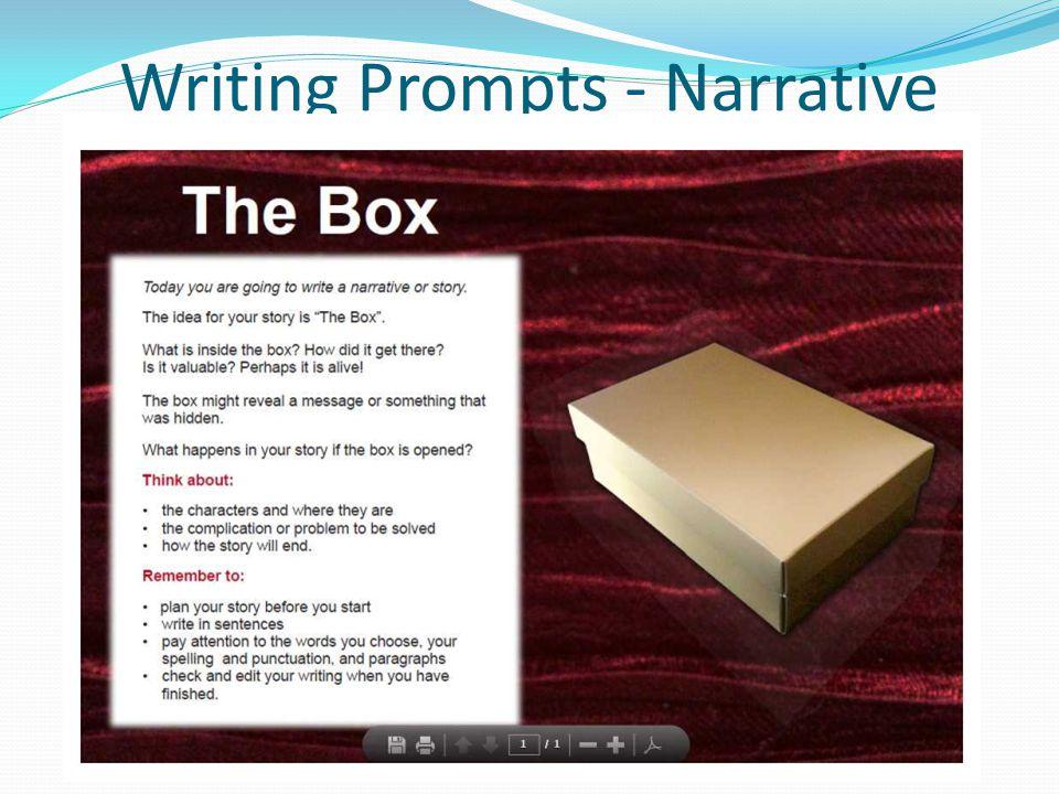 Writing Prompts - Narrative