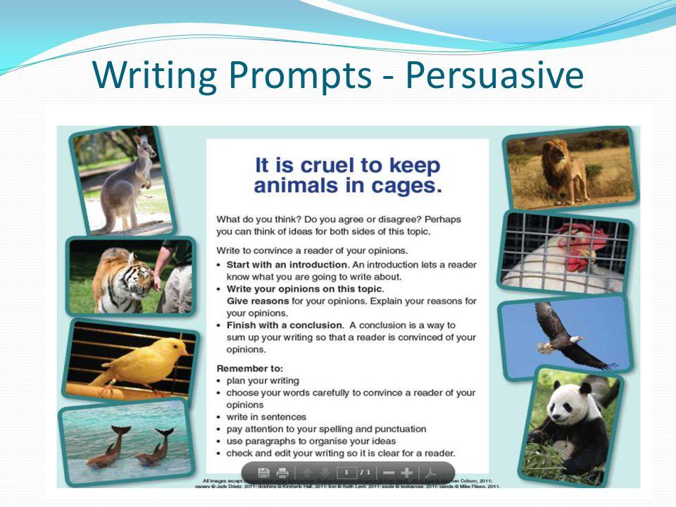 Writing Prompts - Persuasive
