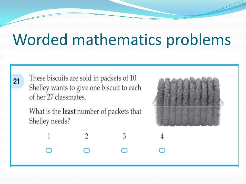 Worded mathematics problems