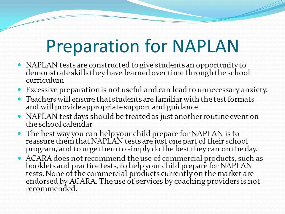 Preparation for NAPLAN