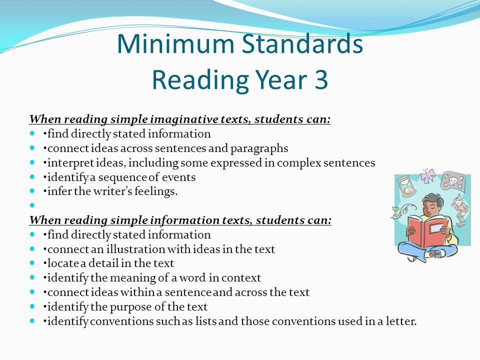 Minimum Standards Reading Year 3