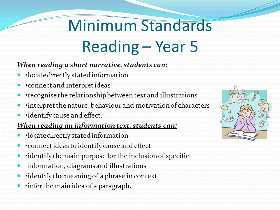Minimum Standards Reading – Year 5