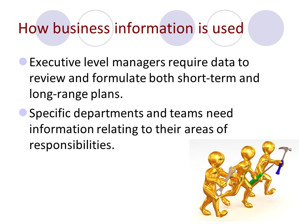 How business information is used