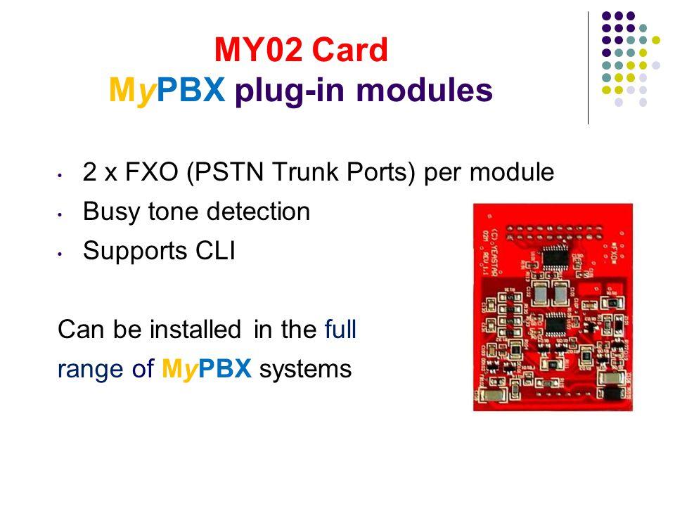 MY02 Card MyPBX plug-in modules