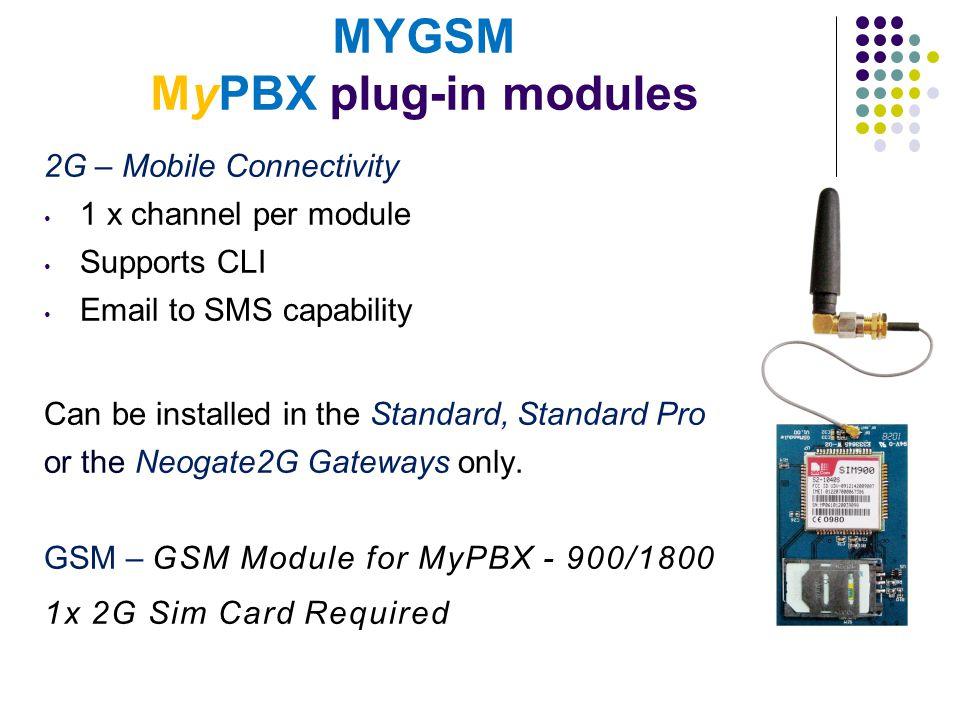 MYGSM MyPBX plug-in modules