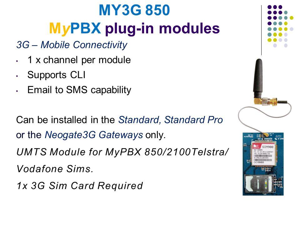 MY3G 850 MyPBX plug-in modules