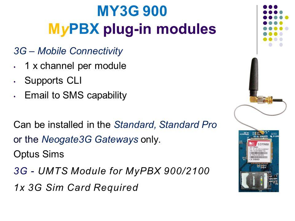 MY3G 900 MyPBX plug-in modules