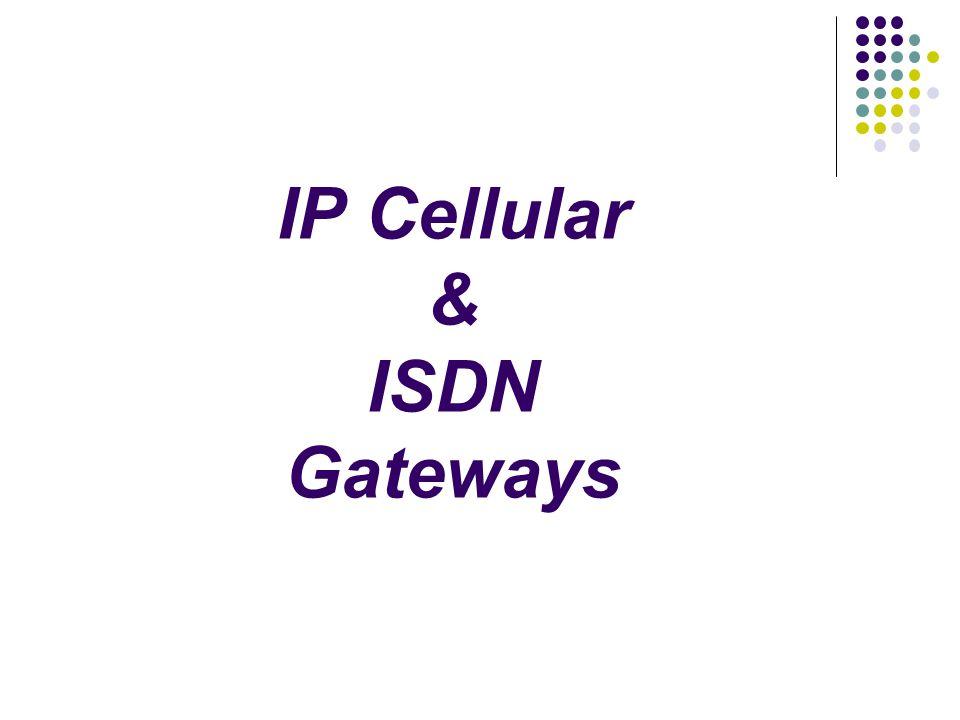 IP Cellular & ISDN Gateways