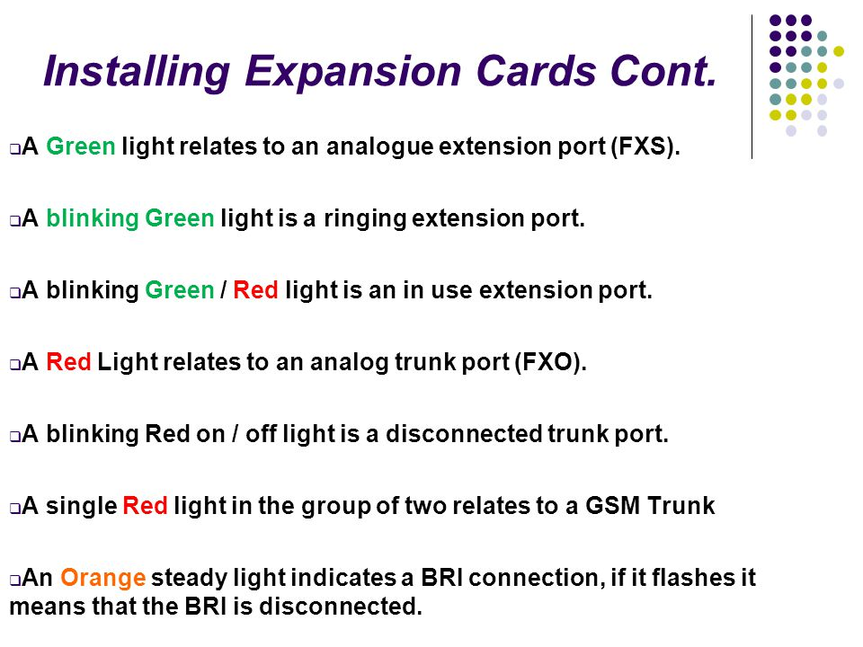 Installing Expansion Cards Cont.