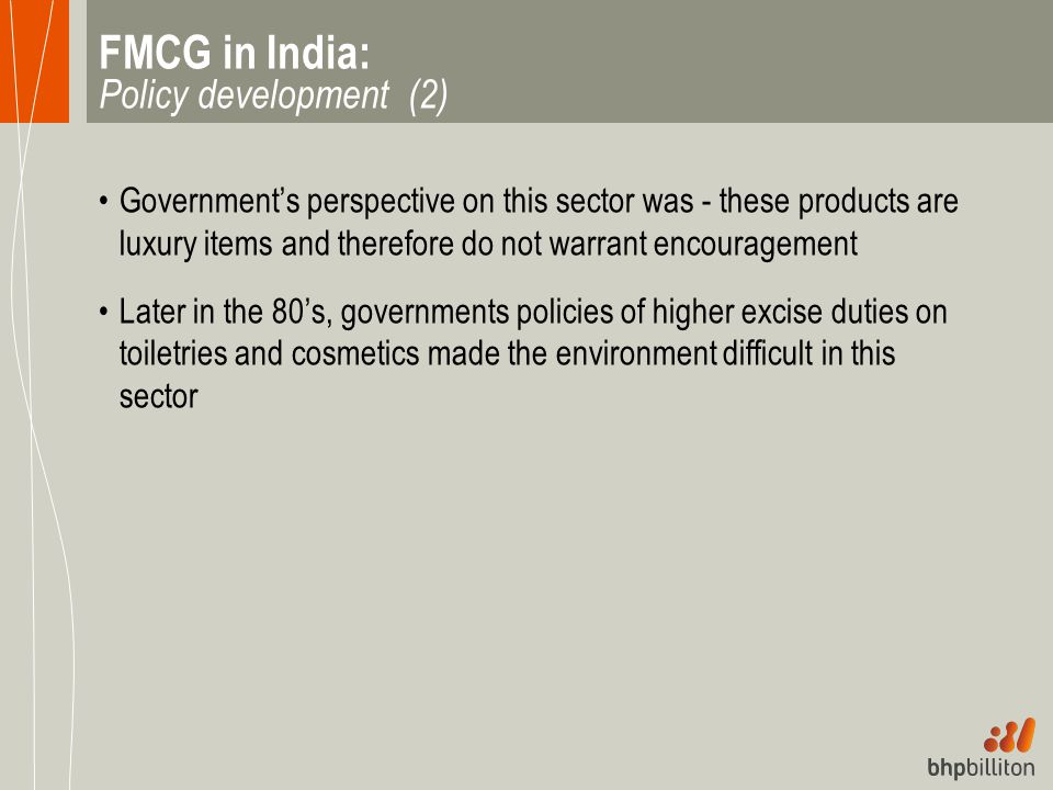 FMCG in India: Policy development (2)