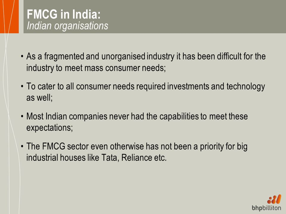 FMCG in India: Indian organisations
