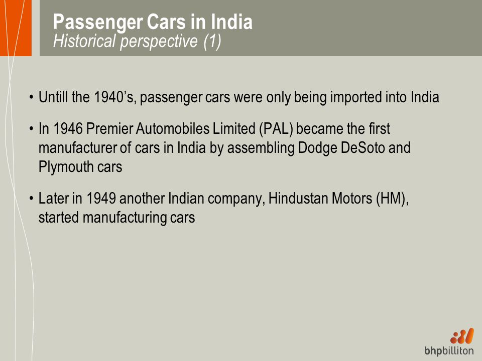 Passenger Cars in India Historical perspective (1)