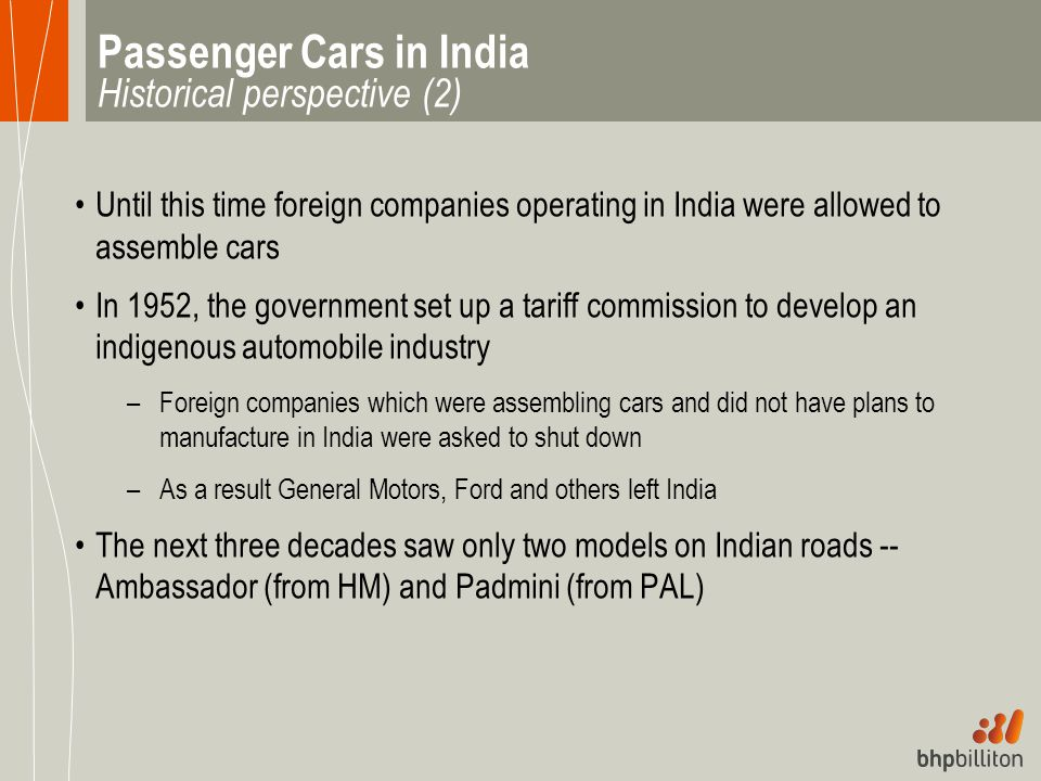 Passenger Cars in India Historical perspective (2)