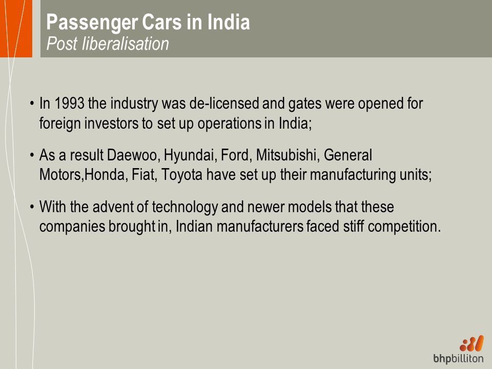 Passenger Cars in India Post liberalisation