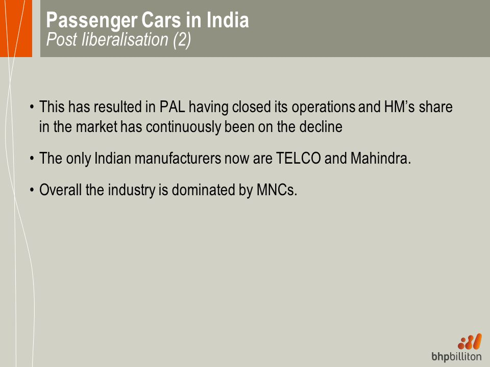 Passenger Cars in India Post liberalisation (2)