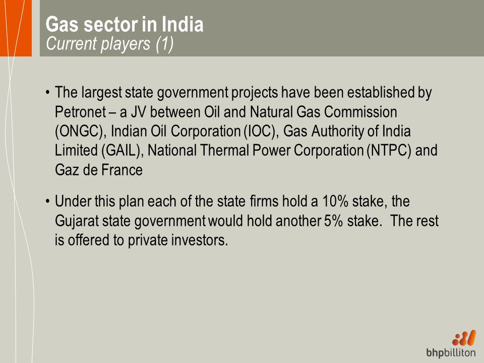 Gas sector in India Current players (1)