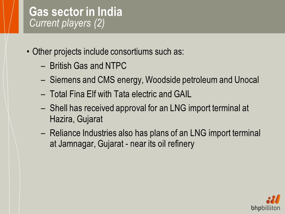 Gas sector in India Current players (2)