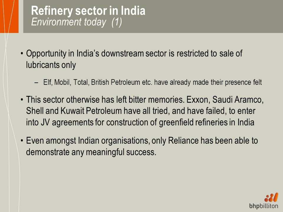 Refinery sector in India Environment today (1)