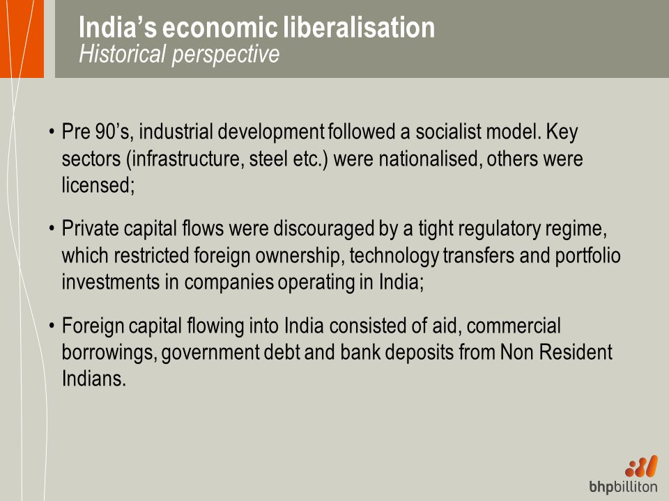India's economic liberalisation Historical perspective